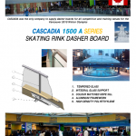 CASCADIA 1500 A SERIES SKATING RINK DASHER BOARD