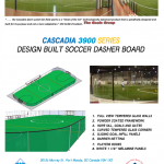 CASCADIA 3900 SERIES DESIGN BUILT SOCCER DASHER BOARD