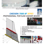CASCADIA 7500 AF SERIES PROFESSIONAL POSTLESS DASHER BOARD