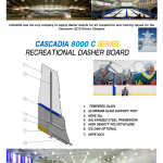 CASCADIA 8000 C SERIES RECREATIONAL DASHER BOARD