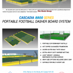 CASCADIA 8800 SERIES PORTABLE FOOTBALL DASHER BOARD SYSTEM