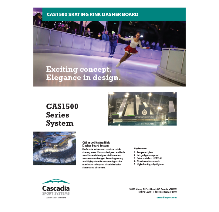 CAS1500 Skating Rink Dasher Board System Technical Information document