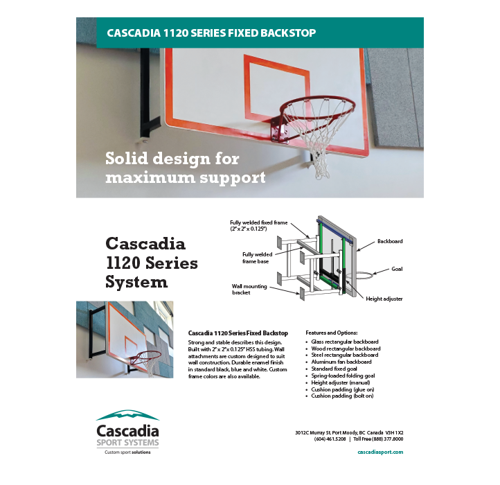 Cascadia 1120 Series Fixed Backstop